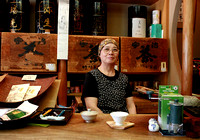 Tea shop owner portrait Japan